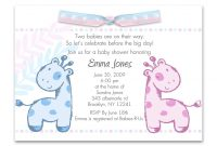 Amazing How Word Baby Shower Invitation Twins | Ehow, Baby Shower pertaining to Beautiful Baby Shower Invitations For Twins
