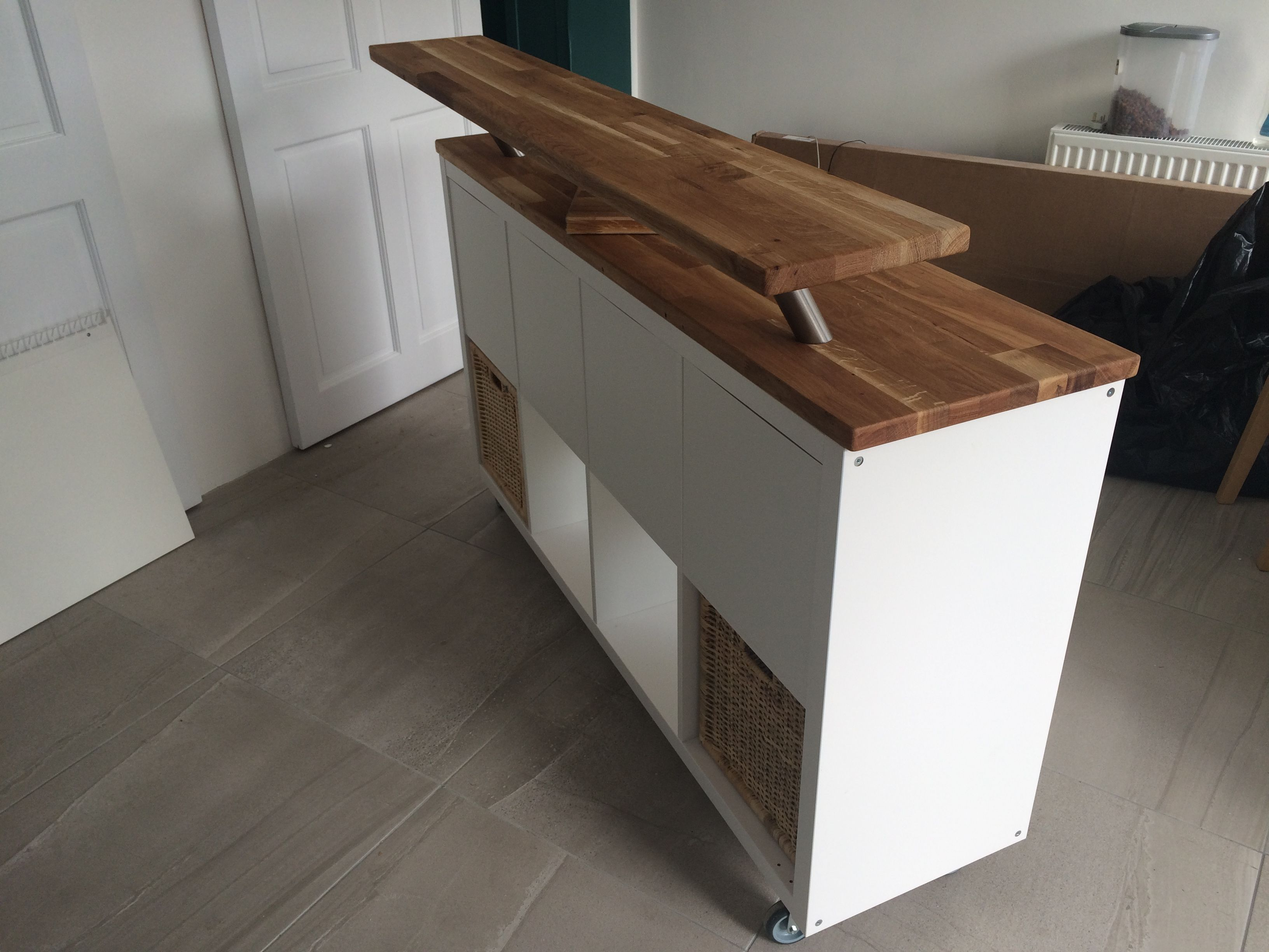 Amazing Ikea Hack. Kitchen Island + Breakfast Bar. Kallax On Heavy Duty intended for Lovely Ikea Hack Kitchen Island