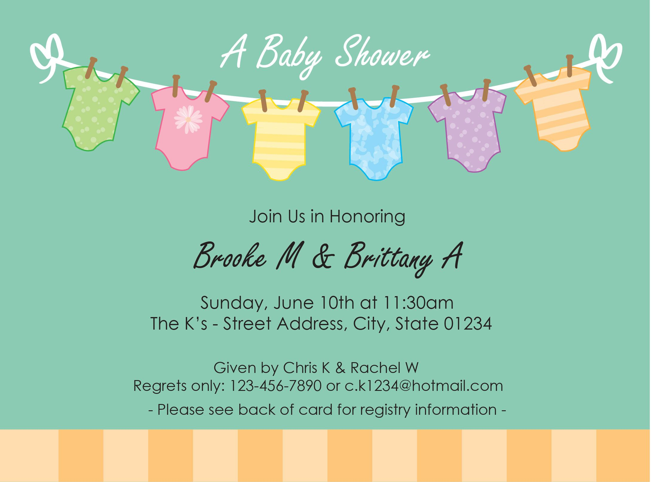 Amazing Invitation For Baby Shower: Beautiful Free Baby Shower Invitation pertaining to Free Baby Shower Invitations