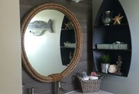 Amazing Kids Nautical Bathroom Remodel Final Results | Coastal Decor for Awesome Beach Themed Bathroom Mirrors