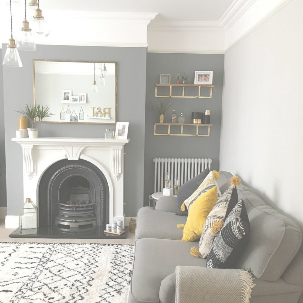 Amazing Living Room Dark Grey Accent Wall | Fixer Upper Inspirations regarding Awesome Living Room With Grey Walls
