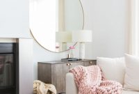 Amazing Marianna Hewitt's Darling Pink & Neutral Hollywood Home | Neutral for Living Room Mirrors
