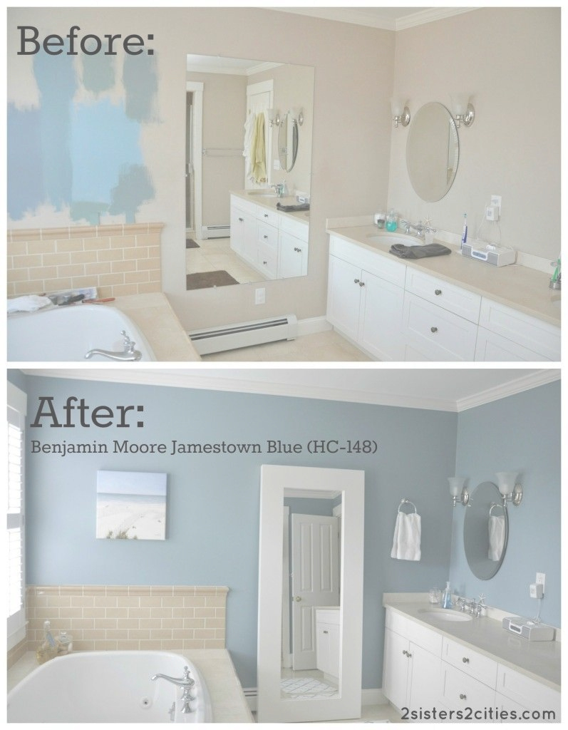 Amazing Master Bathroom Paint Color Reveal | Pinterest | Master Bathrooms intended for High Quality Blue Bathroom Paint