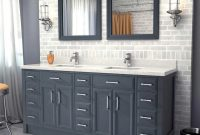 Amazing Miracle Double Sink Bathroom Vanity Ideas Sinkouble Excellent Photo intended for Bathroom Double Sink Cabinets