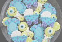 Amazing Monsters Inc Baby Cookies- Bz Bees Sweet Treats | Decorated Cookie pertaining to New Monsters Inc Baby Shower Cake