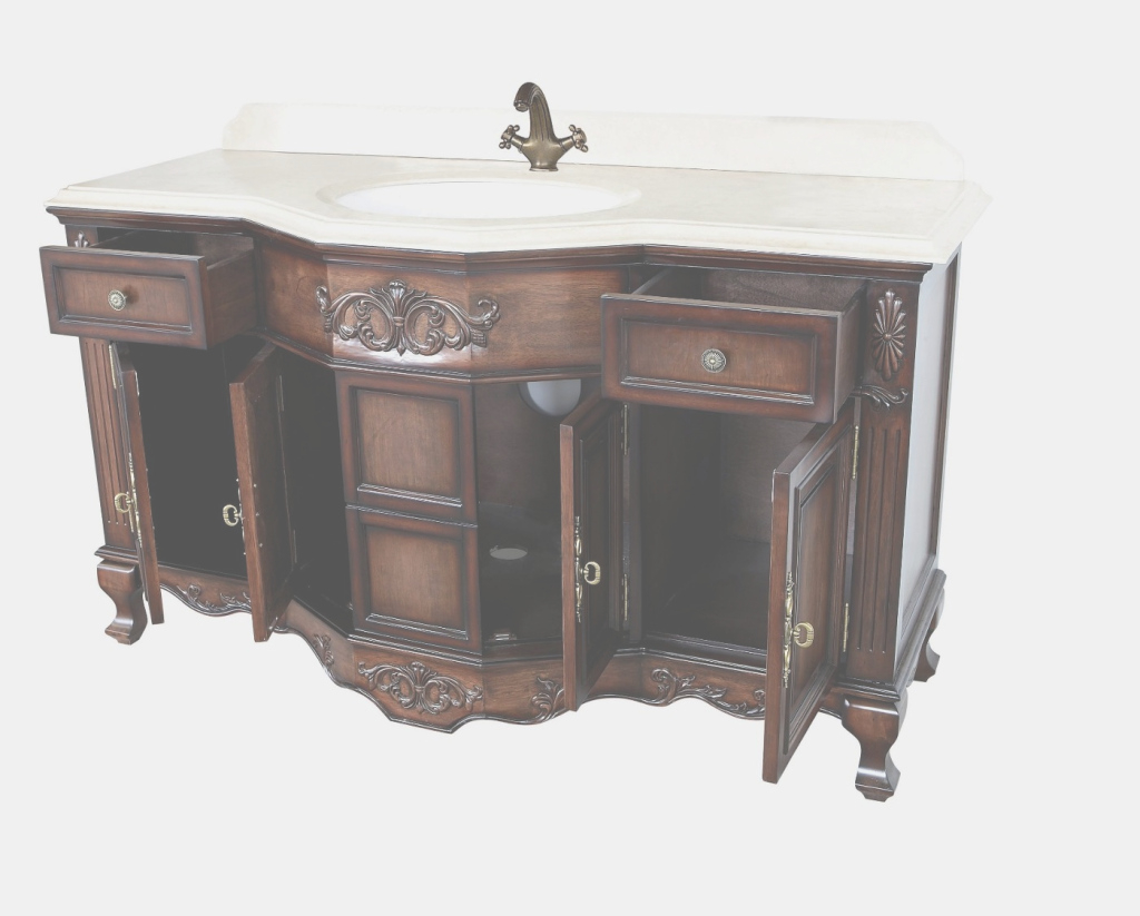 "Amazing Montage Antique Style Bathroom Vanity Single Sink 60"" inside Elegant Bathroom Vanity 60 Single Sink"