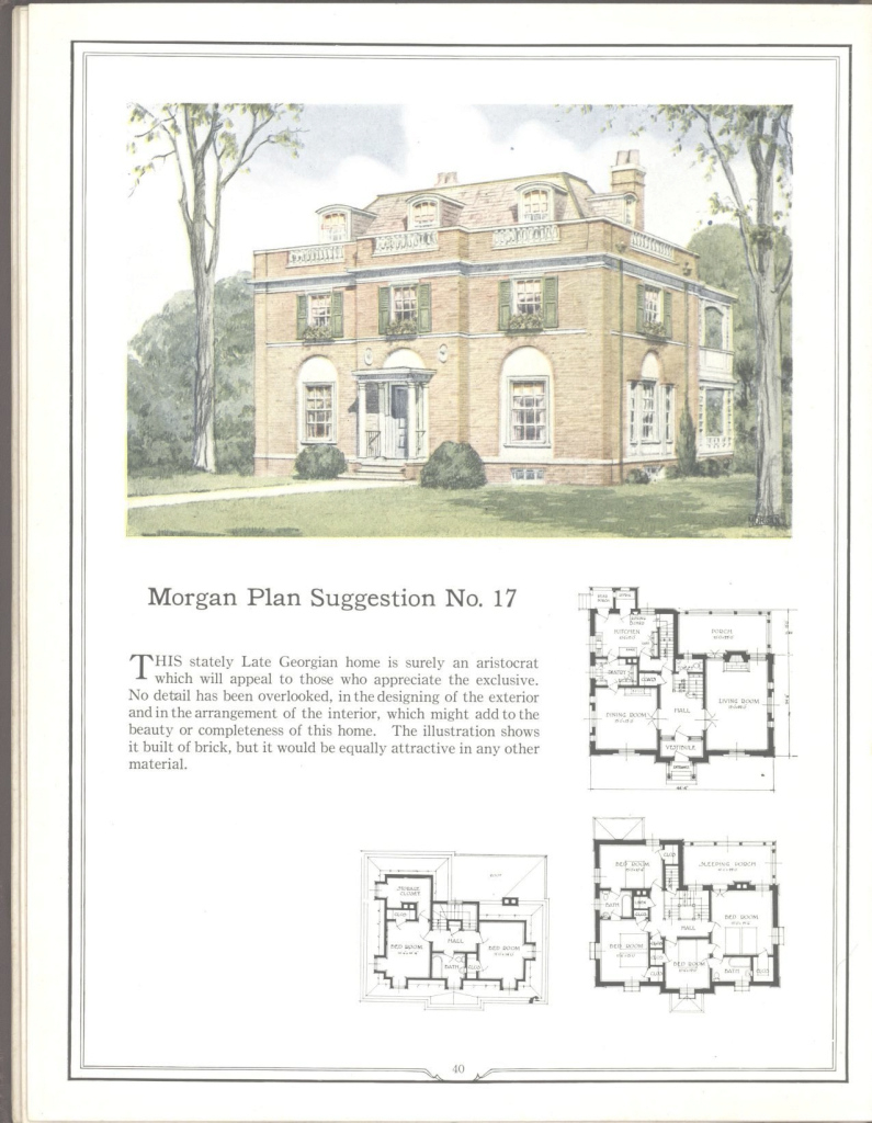 Amazing Morgan Plan No. 17 -- One Of Many Plans Both Large And Small In throughout Best of Modern Georgian House Plans Stock