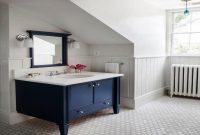 Amazing Navy Blue Bathroom Vanity Cabinet Picture : Top Bathroom – Nice Navy intended for Blue Bathroom Vanity Cabinet