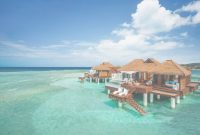 Amazing New: All-Inclusive Overwater Bungalows Just Off The Coast Of Montego throughout Good quality Sandals Over The Water Bungalows