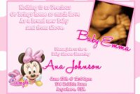 Amazing New Of Minnie Mouse Baby Shower Invitations Party City Ideas inside Review Minnie Mouse Baby Shower Invitations