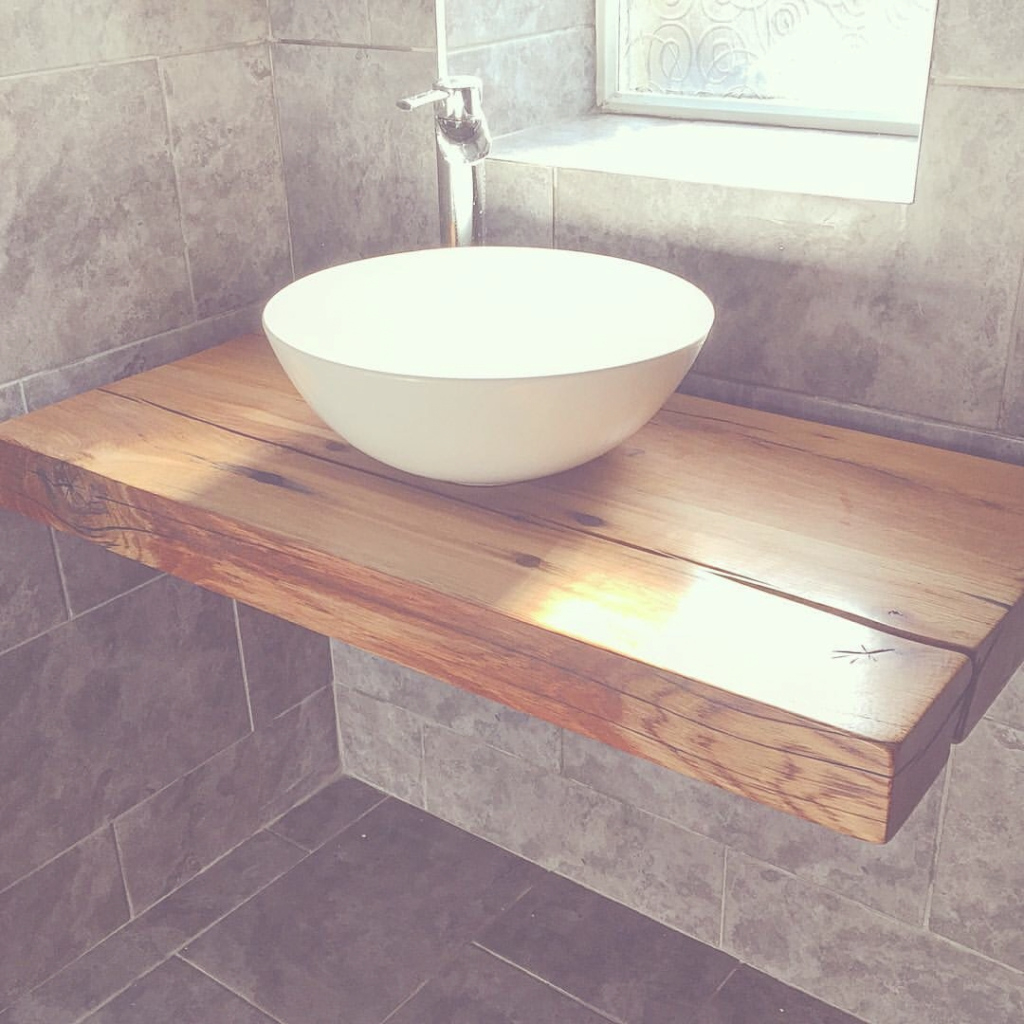 Amazing Our Floating Bathroom Shelf With Vessel Bowl Sink. Handcrafted Wood with Bowl Bathroom Sink