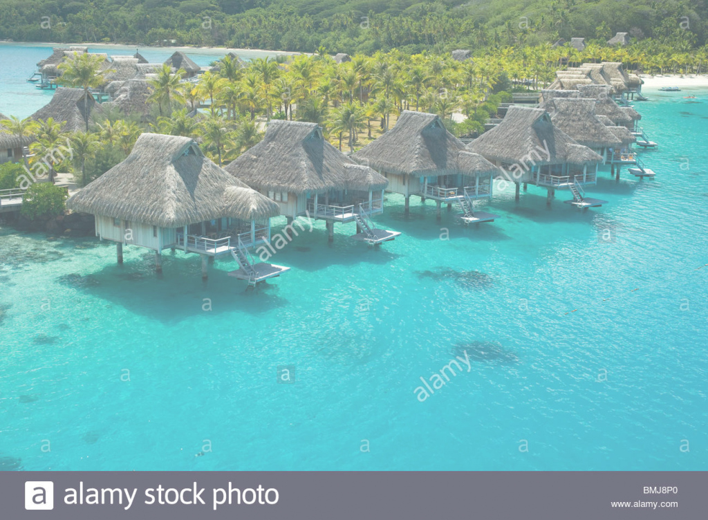 Amazing Overwater Bungalows Of Hilton Bora Bora Nui Resort Hotel In Bora in Best of Bungalows In Bora Bora