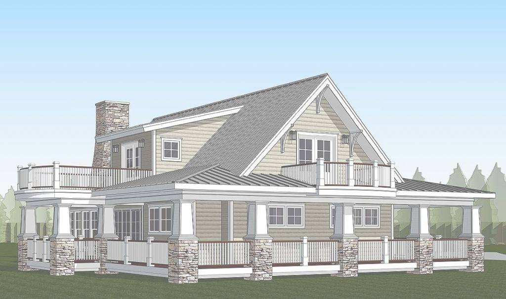 Amazing Plan 18286Be: Country Home With Wraparound Porch And 2 Balconies with regard to Awesome Country Homes With Wrap Around Porch