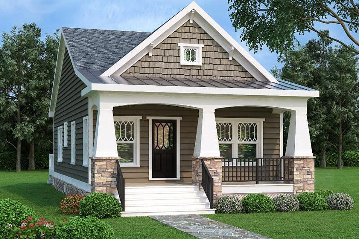 Amazing Plan 75565Gb: 2 Bed Bungalow House Plan With Vaulted Family Room intended for Elegant Bungalow House Style