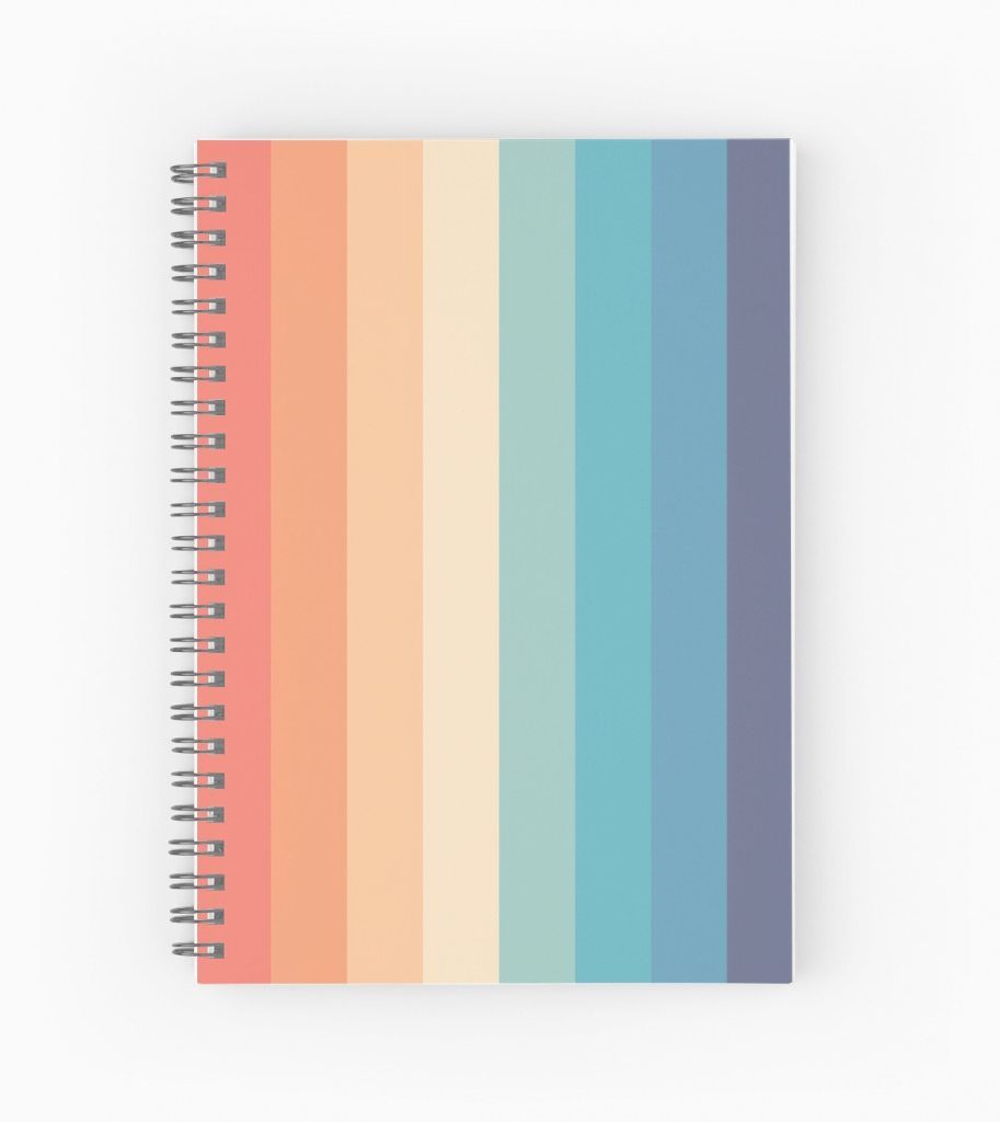 "Amazing Retro 70S Color Palette 1"" Spiral Notebookscaprisuncrip 