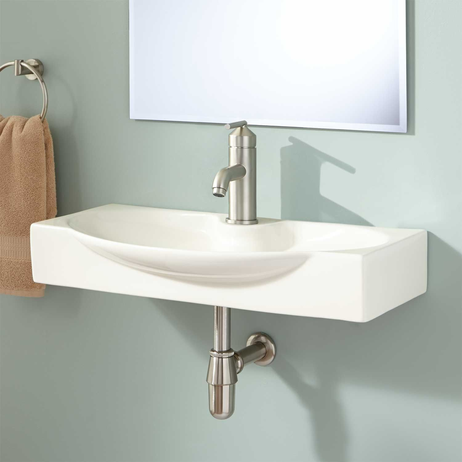 Amazing Ronan Wall-Mount Bathroom Sink - Wall Mount Sinks - Bathroom Sinks with regard to Small Bathroom Sinks Wall Mount