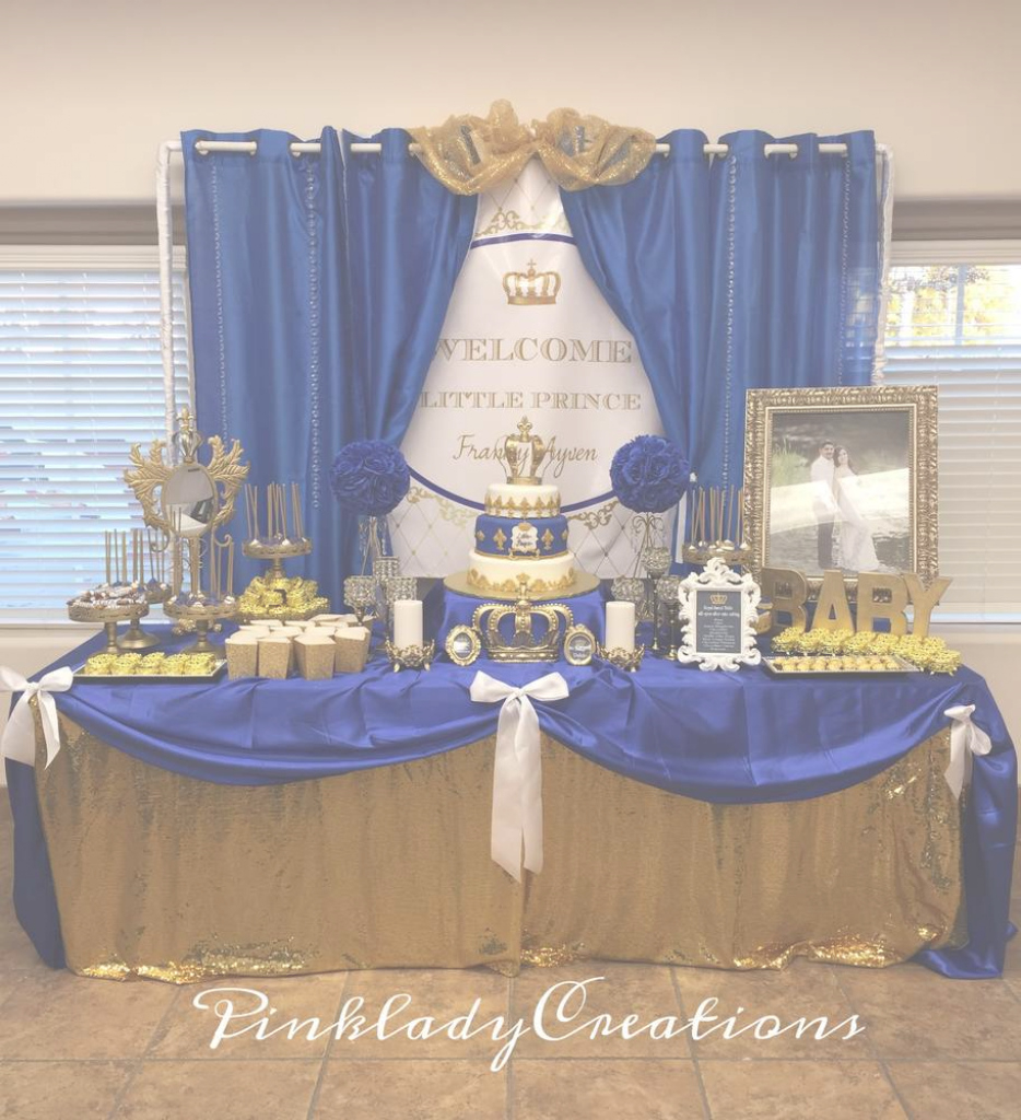 Amazing Royal Baby Shower Baby Shower Party Ideas | Photo 2 Of 22 | Catch My within Luxury Royal Blue And Gold Baby Shower Ideas