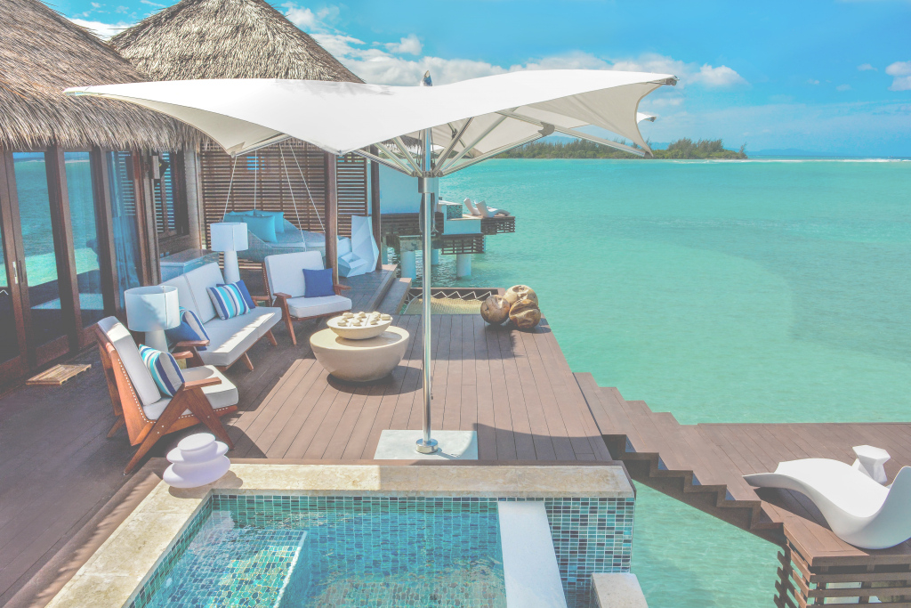 Amazing Sandals Debuts Over-The-Water Bungalows - Recommend with Luxury Over The Water Bungalows In Caribbean