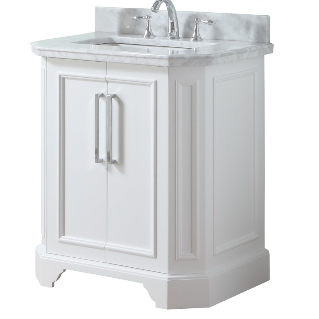 Amazing Shop Allen + Roth Delancy White Undermount Single Sink Bathroom regarding Allen And Roth Bathroom Vanities