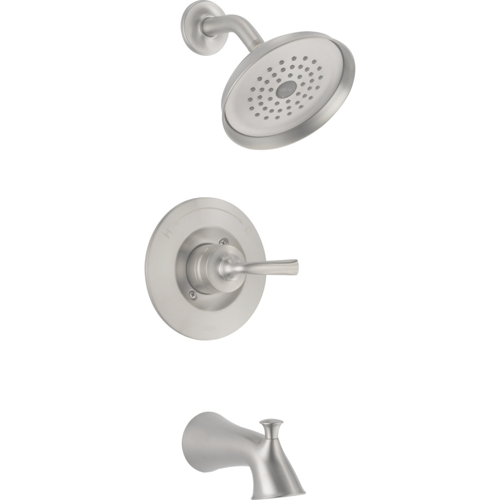 Amazing Shop Delta Lorain Stainless 1-Handle Bathtub And Shower Faucet With with regard to Luxury Delta Bathroom Shower Faucets