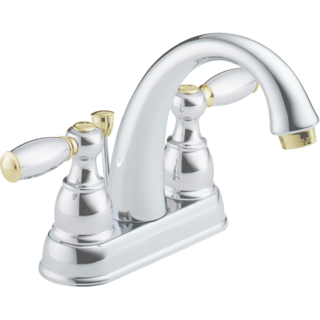 Amazing Shop Delta Traditional Chrome/brass 2-Handle 4-In Centerset in Inspirational Chrome And Brass Bathroom Faucets