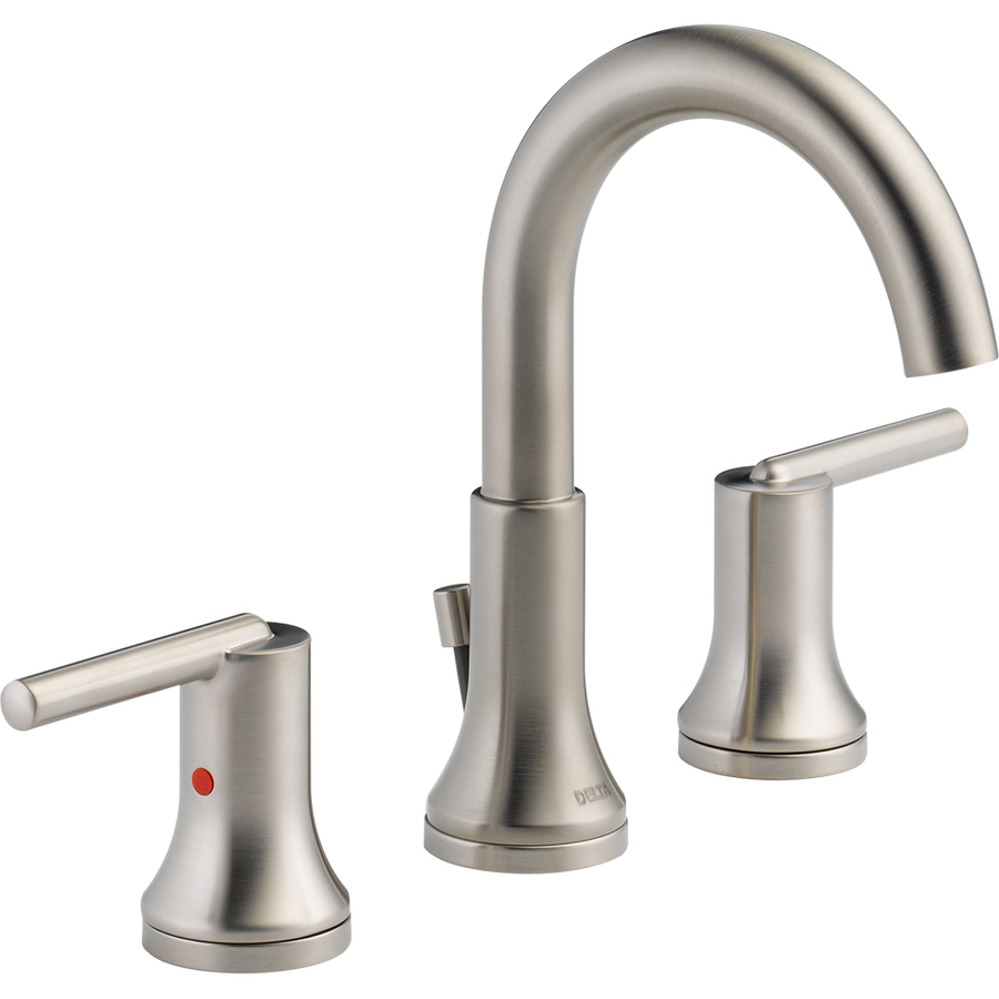 Amazing Shop Delta Trinsic Stainless 2-Handle Widespread Watersense Bathroom within Delta Trinsic Bathroom Faucet