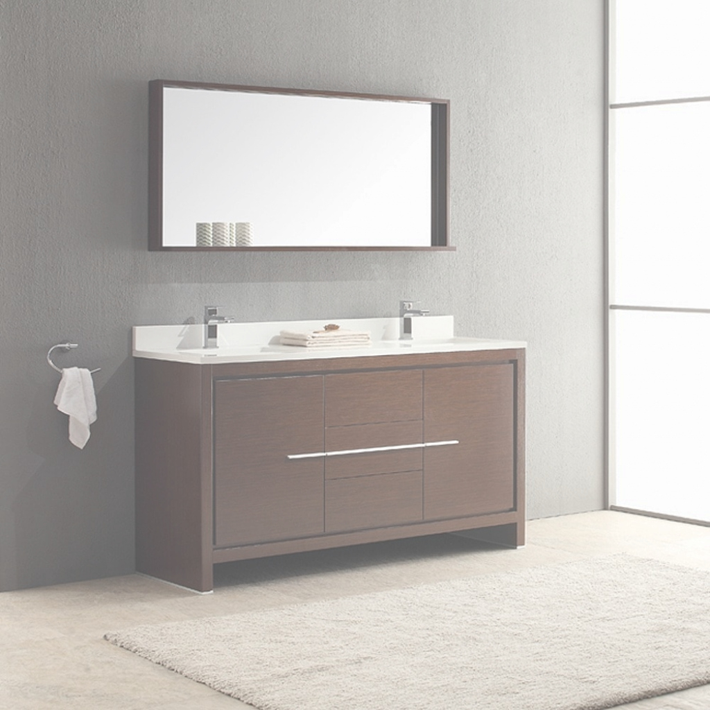 Amazing Shop Fresca Allier 60-Inch Wenge Brown Modern Double Sink Bathroom throughout Fresca Bathroom Vanity