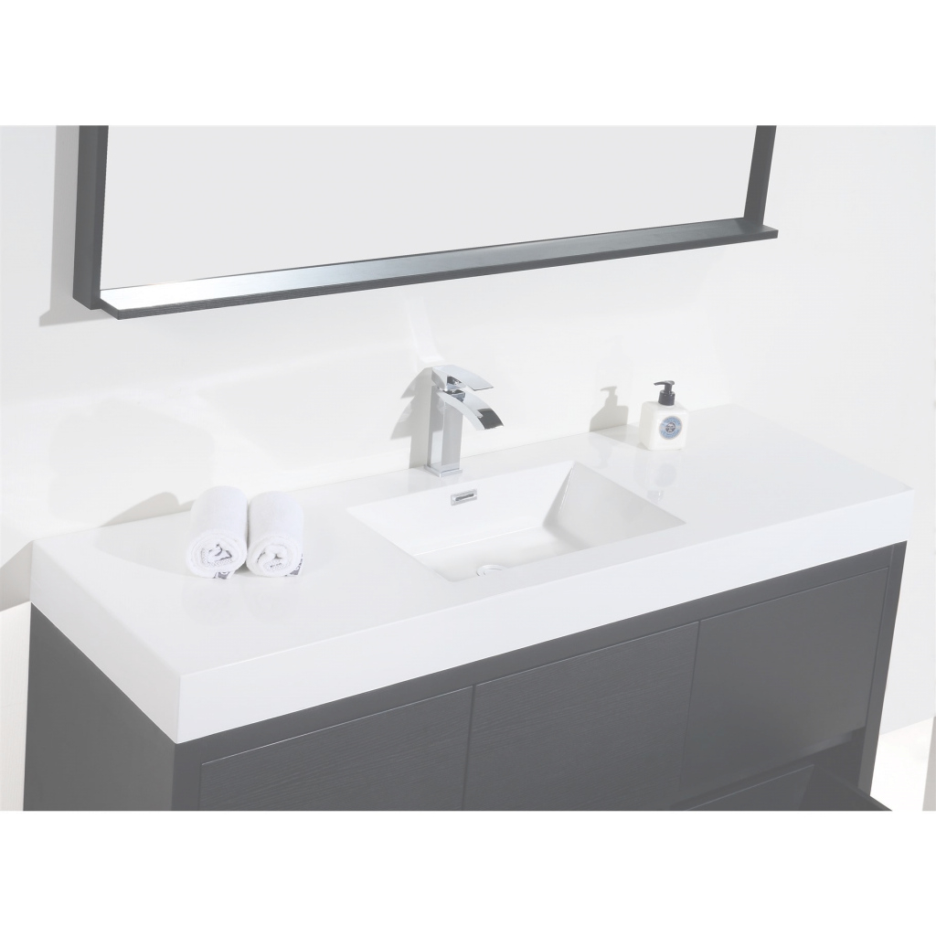 Amazing Shop Kubebath Bliss 59-Inch Single Sink Bathroom Vanity - Free intended for Single Sink Bathroom Vanity