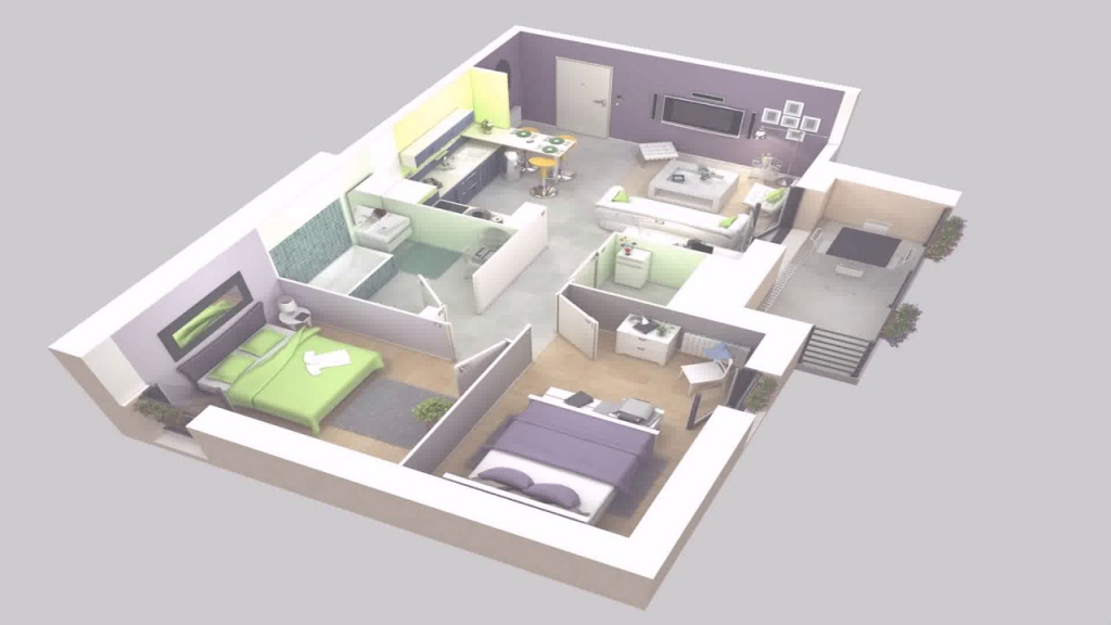 Amazing Simple Modern House Floor Plans 3D - Youtube with Modern House Floor Plans