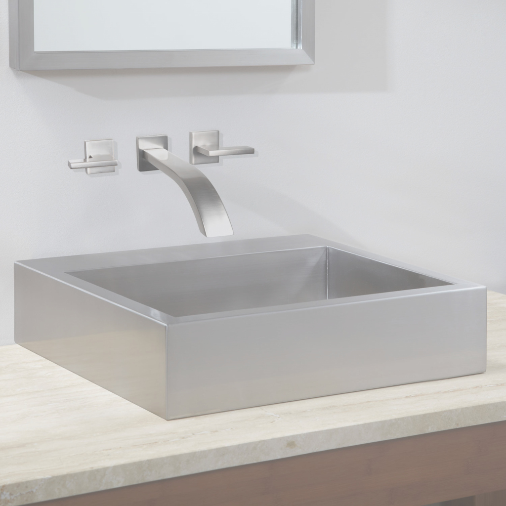 Amazing Steel Bathroom Vessel Sink | Signature Hardware inside Bathroom Vessel Sinks