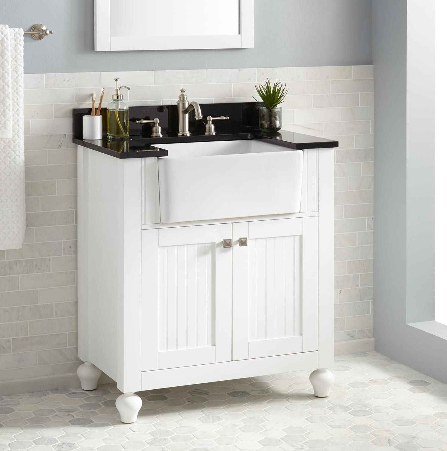 Amazing Strong Farmhouse Style Bathroom Vanity Modern With Home Design within Luxury Farmhouse Style Bathroom Vanity