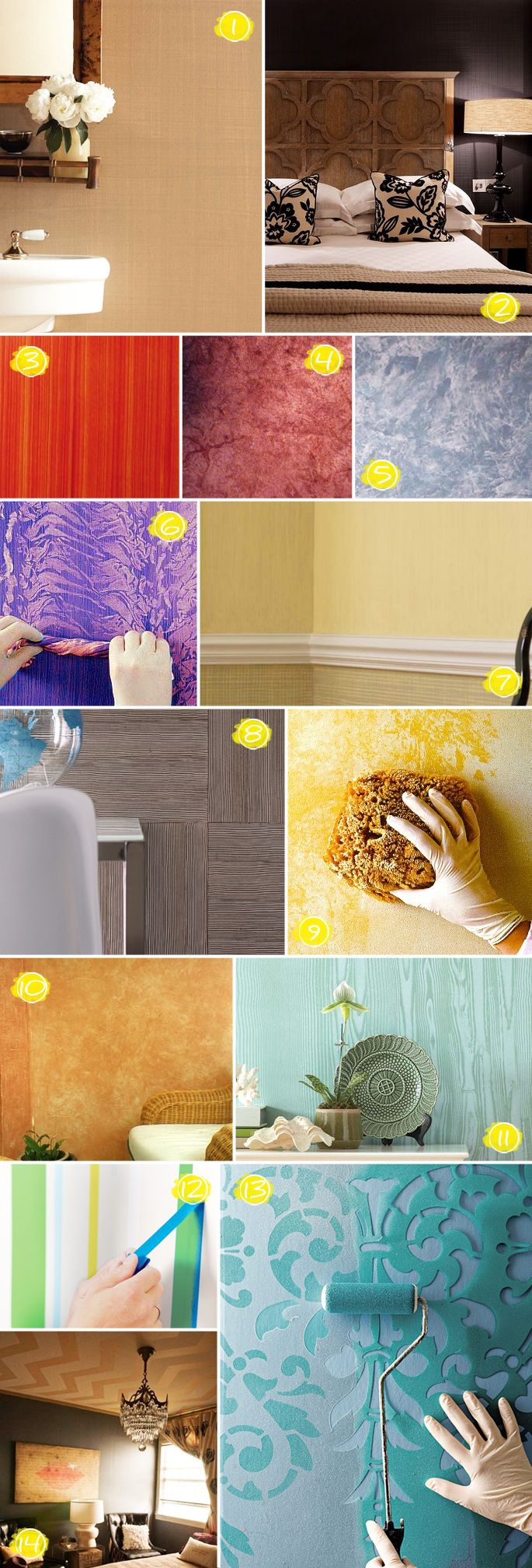 Amazing Textured Wall Painting Ideas: From Faux Wood To Linen Effects throughout Diy Wall Painting Ideas