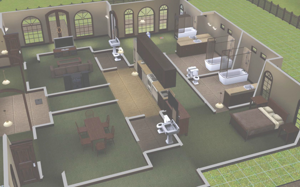 Amazing The Sims 3: Room Build Ideas And Examples pertaining to Sims 3 House Layouts