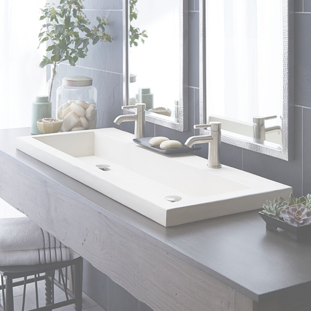 Amazing Trough 4819 - Double Basin Nativestone® Bathroom Sink | Native Trails with regard to Best of Trough Sink Bathroom