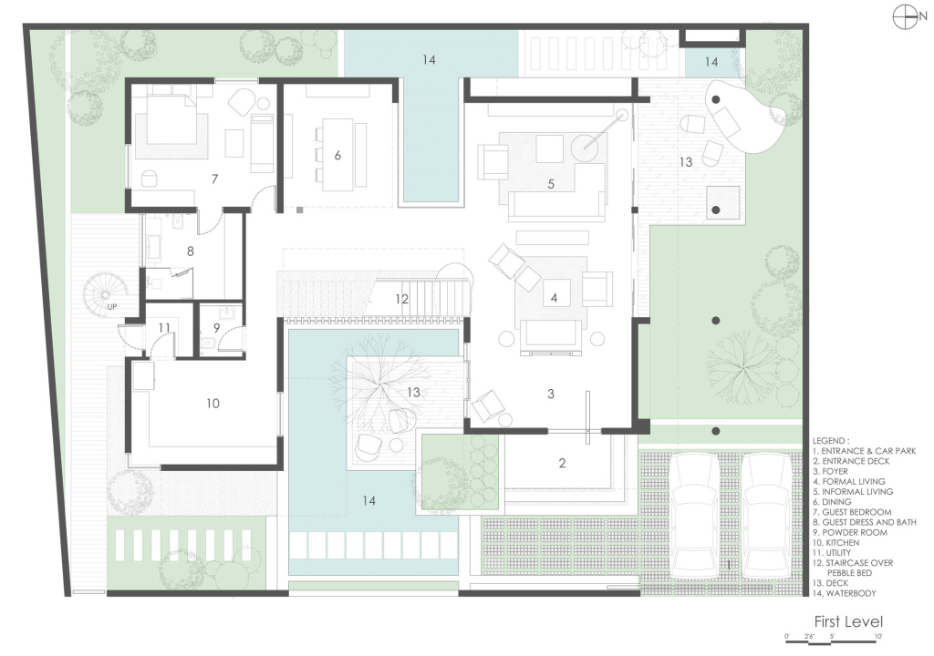 Amazing U Shaped House Plans With