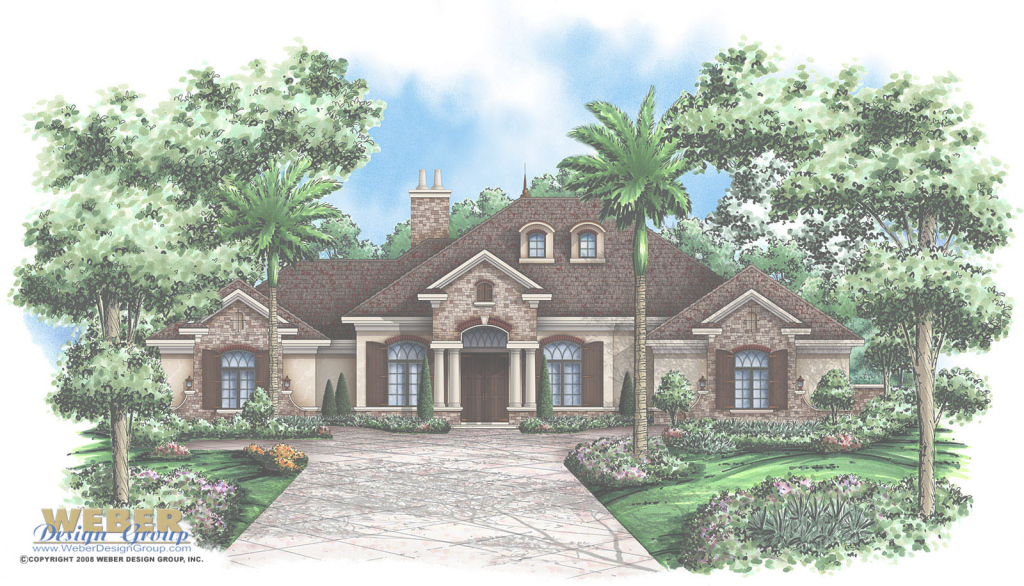 Amazing Verdelais Home Plan - Weber Design Group; Naples, Fl. throughout Modern Georgian House Plans Stock