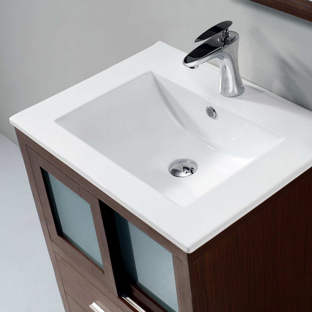 Amazing Vigo Alessandro 24 Inch Bathroom Vanity, Contains One White Top regarding Set Bathroom Vanity With Top