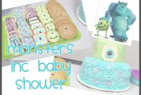 Amazing Vlog: Monsters Inc Baby Shower – Youtube intended for New Monsters Inc Baby Shower Cake