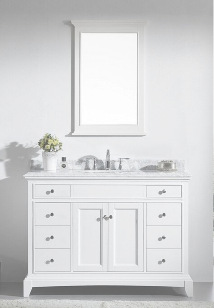 Amazing White Bathroom Vanities With Tops Fascinating 48 Vanity Top Inch Set within Review 48 Inch Bathroom Vanity With Top