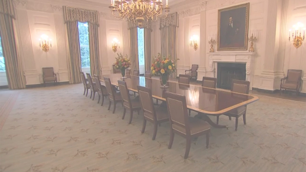 Amazing White House Unveils Redecorated State Dining Room - Cnnpolitics with White House State Dining Room