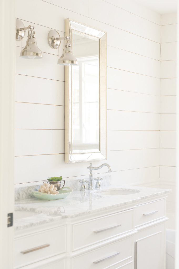 Amazing White Paint Colors: 5 Favorites For Shiplap | The Harper House throughout Yarmouth Blue Bathroom