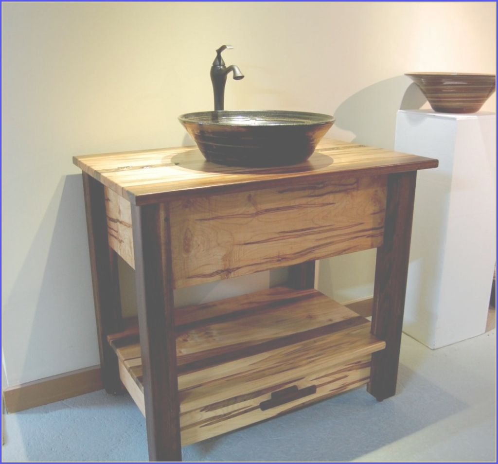 Amazing Wood Bathroom Vanities With Vessel Sinks — Home Ideas Collection pertaining to Bathroom Vanity With Vessel Sink