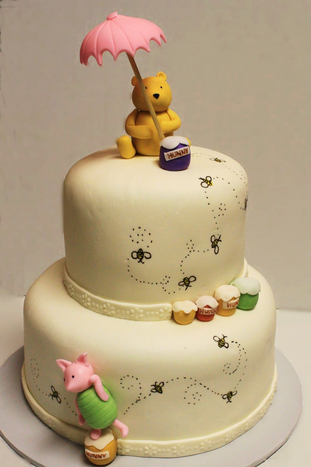 Beautiful 10 Amazing Baby Shower Cakes For Girls | Shower Cakes, Cake And Layering intended for Unique Winnie The Pooh Baby Shower Cakes