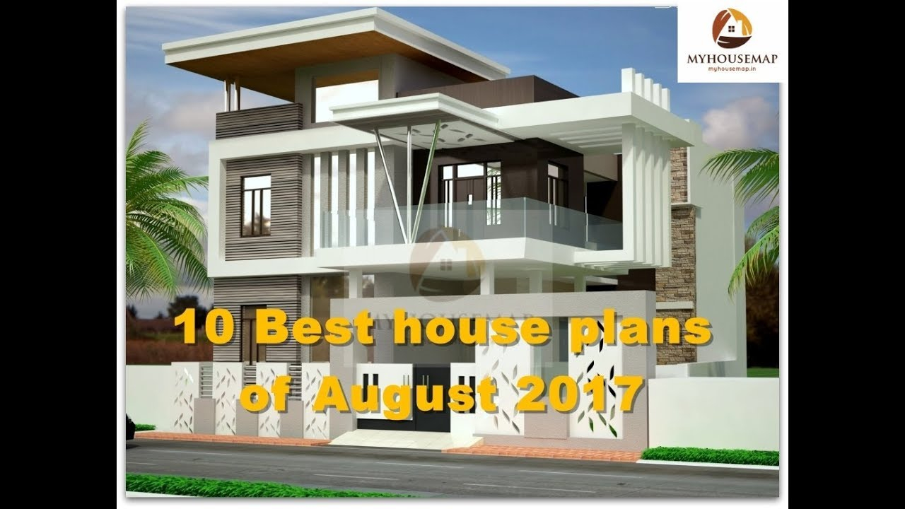 Beautiful 10 Best House Plans Of August 2017 | Indian Home Design Ideas - Youtube intended for Indian Home Plans