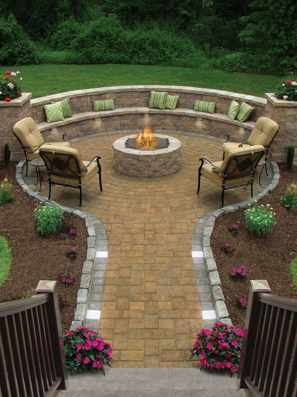 Beautiful 17 Of The Most Amazing Seating Area Around The Fire Pit Ever in Backyard Landscaping Ideas With Fire Pit