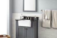 "Beautiful 30"" Nellie Farmhouse Sink Vanity – Dark Gray – Bathroom inside New Farmhouse Sink In Bathroom"