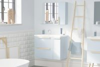 "Beautiful 32"" Nordic Bathroom Vanity With Countertop Ensemble, Light Blue regarding Beautiful Light Blue Bathroom Vanity"