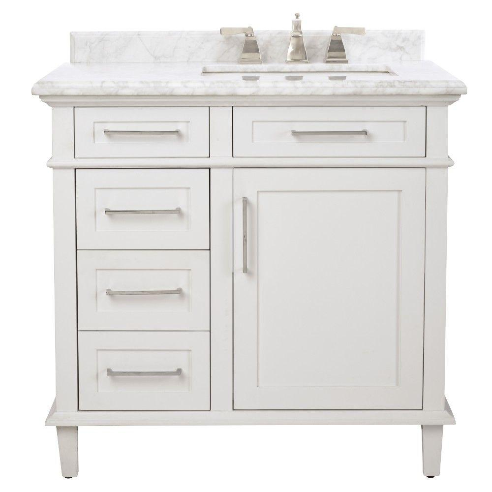 Beautiful 35-37 In. - Bathroom Vanities - Bath - The Home Depot inside Bathroom Sink With Cabinet