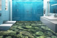 Beautiful 3D Bathroom Floor Created With Epoxy – Youtube regarding Beautiful Epoxy Bathroom Floor