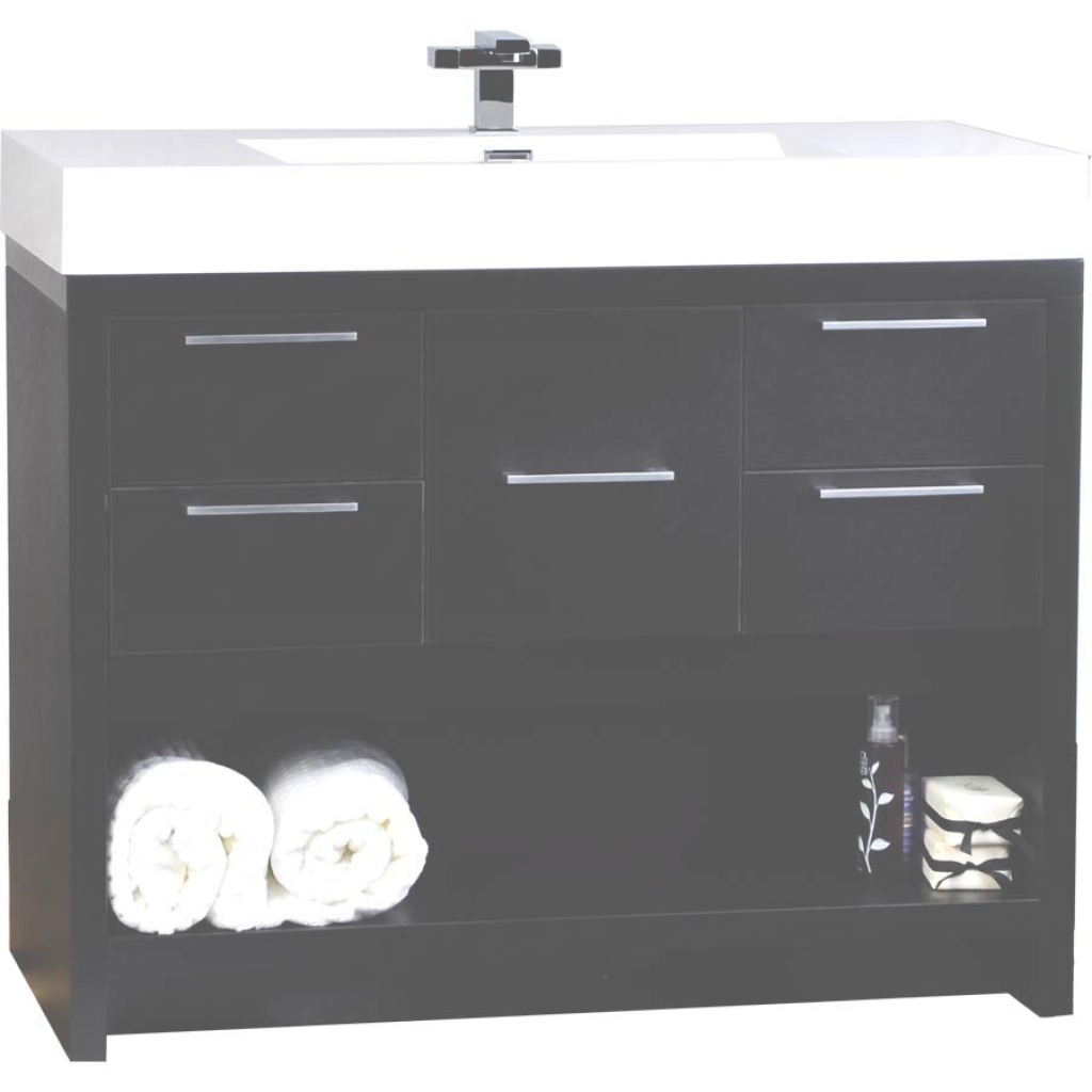Beautiful 40 Inch Modern Bathroom Vanity Set In Black Tn-L1000-Bk for 40 Bathroom Vanity